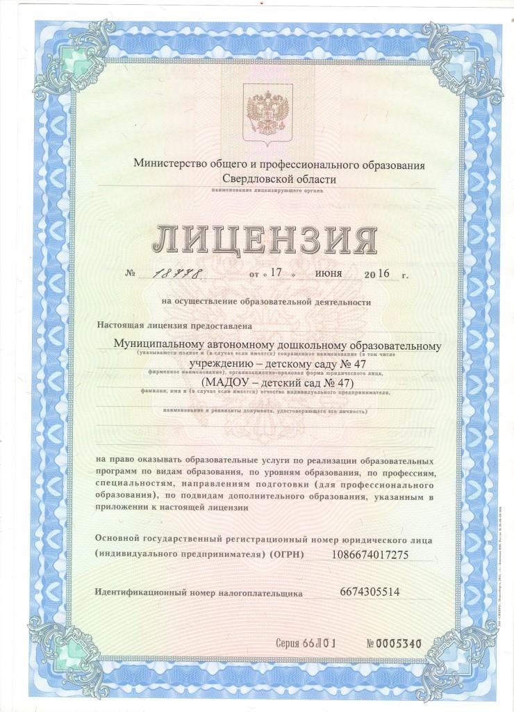 Лицензия 47-1